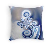Pretty in Blue Throw Pillow
