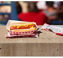 Baseball - It's Not a Game Without a Hotdog & Seeds Photographic Print