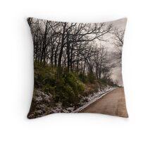 Threatening trees Throw Pillow