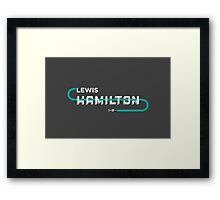 Mercedes AMG F1 Driver: Lewis Hamilton Typography Design Framed Print