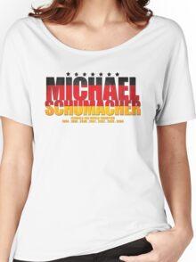 Michael Schumacher World Championships Flag Women's Relaxed Fit T-Shirt