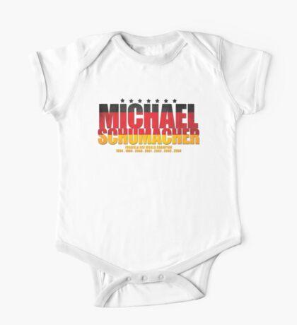 Michael Schumacher World Championships Flag One Piece - Short Sleeve