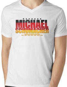 Michael Schumacher World Championships Flag Mens V-Neck T-Shirt
