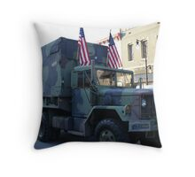 Stars, Stripes and Camo Throw Pillow