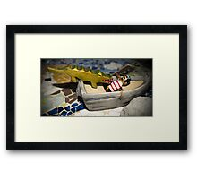 Tick Tock,  Pirate Captain Hook Framed Print