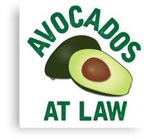 Avocados at Law Canvas Print