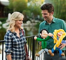Parks and recreation, Ben and Leslie  by maddypit