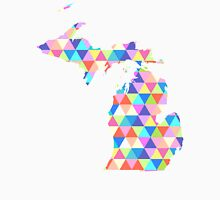 Michigan Colorful Hipster Geometric Triangles Unisex T-Shirt