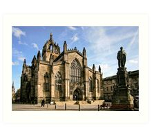 St Giles' Cathedral and Parliament Square Art Print