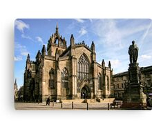 St Giles' Cathedral and Parliament Square Canvas Print