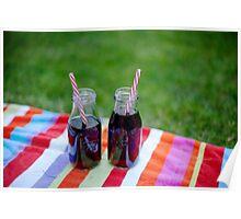 Mason Jar Drinks Poster