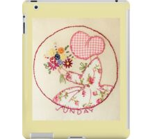 Sunny Sunday Bouqet Of Flowers  Bonnet Lady iPad Case/Skin