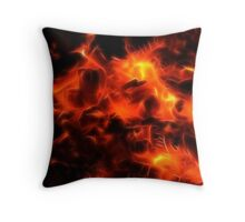Braai Embers Throw Pillow
