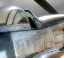 P51 Mustang - Ready for action Sticker