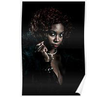 Girl in Black Lace Poster