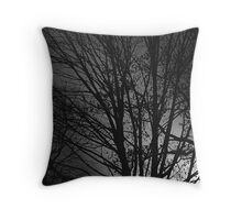 Melancholic woods Throw Pillow