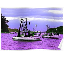 Fishing boats at Pearl Beach Poster