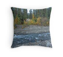 Creekside Cabin Throw Pillow