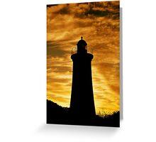 photoj Tas, 'Sunset Mersey Lighhouse' Greeting Card