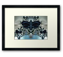 Blue Butterfly Lace II Framed Print