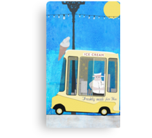 Ice Cream Van Canvas Print