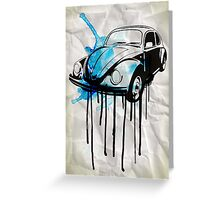 vw beetle drip Greeting Card