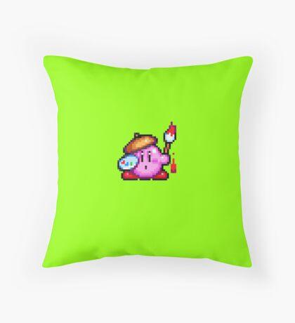 Kirby painter Throw Pillow