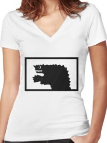 Ultraman Monster Series Women's Fitted V-Neck T-Shirt
