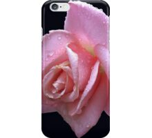 Raindrop Jewels on a Pink Rose iPhone Case/Skin