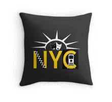 NYC icons collage Throw Pillow