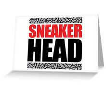 Sneaker Head Elephant Greeting Card