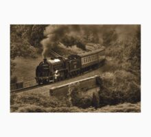 Southern 825 Locomotive (Sepia) Kids Clothes