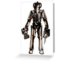 Rogue Cyberman Greeting Card