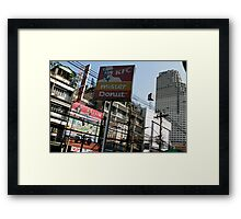 KFC powerlines Framed Print