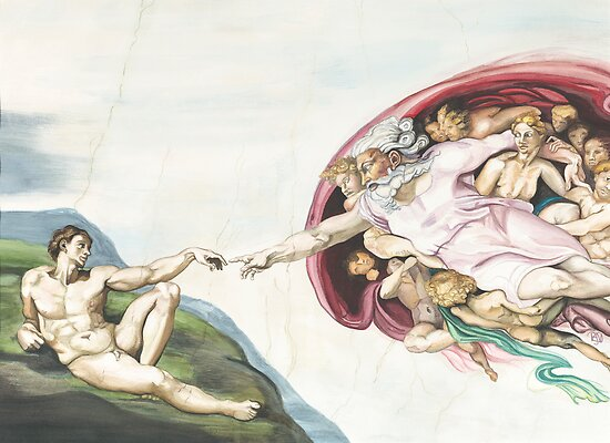 Creation of Adam Inspired by old master by psovart