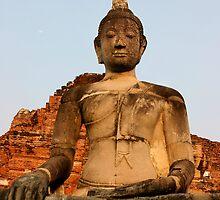 Ayutthaya Sunset Buddha by Kyra  Webb