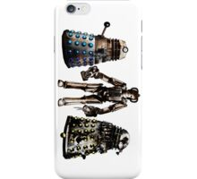 Destroyed Daleks and Rogue Cyberman iPhone Case/Skin