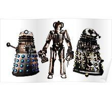 Destroyed Daleks and Rogue Cyberman Poster