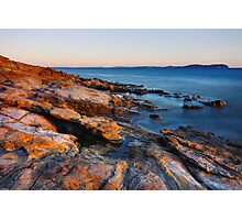 A colorful winter afternoon on the Mediterranean coast Photographic Print