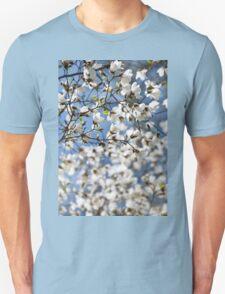 White fresh Magnolia spring bloom Unisex T-Shirt
