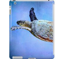 Turtle in the blue iPad Case/Skin