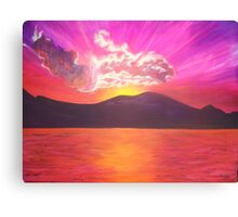 PC Sunset Canvas Print