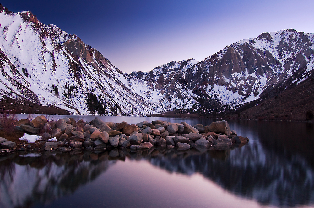 Last Light, Convict Lake by Justin Mair