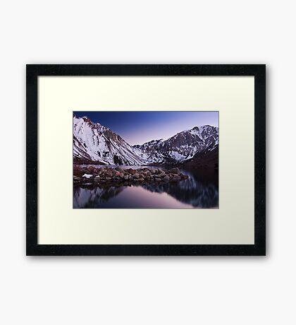 Last Light, Convict Lake Framed Print