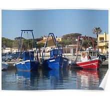 Fisher Boats Poster