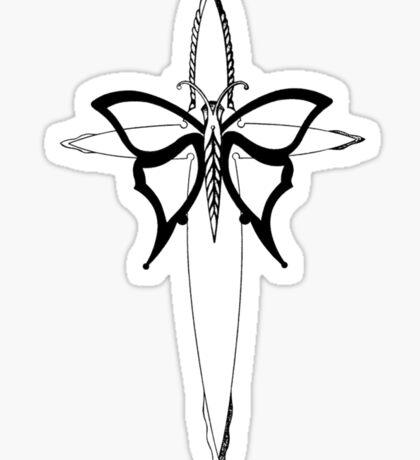 Butterfly Cross Sticker