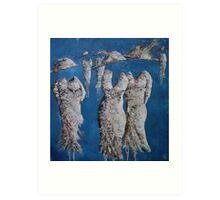 Going Out (Blue Ladies)  Art Print