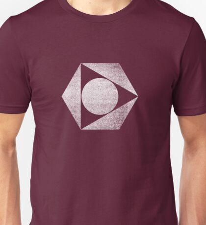 Tri Circle - White Unisex T-Shirt