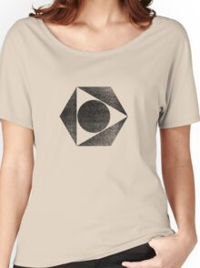 Tri Circle - Black Women's Relaxed Fit T-Shirt