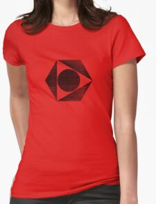 Tri Circle - Black Womens Fitted T-Shirt